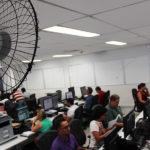 Sala dos Oficiais de Justiça do Fórum Clóvis Beviláqua funciona com condições precárias