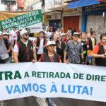 Oficiais de Justiça protestam contra as reformas da Previdência e Trabalhista