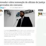 Vereador cobra nomeação de Oficiais de Justiça aprovados em concurso