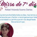 Missa de 7º Dia de Rafael Holanda vai ser realizada nesta terça-feira (11)