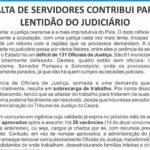 Déficit de 131 Oficiais de Justiça afeta 61 municípios cearenses