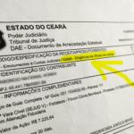 DAE deverá vir com o código 62966 – Diligências de Oficiais de Justiça