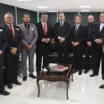 Sindojus Ceará, de Roraima e o Sinpol do RS se reúnem com o presidente do STF