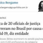 Artigo do jornal Folha de São Paulo destaca risco da atividade do Oficial de Justiça