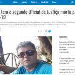 Imprensa repercute morte do segundo Oficial de Justiça do Ceará pela Covid-19