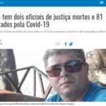 Imprensa repercute o quantitativo de Oficiais de Justiça mortos e contaminados na pandemia
